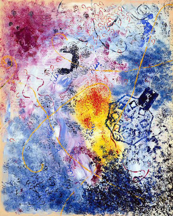 Abstract Art Print featuring the painting Fantaisies by Dominique Boutaud