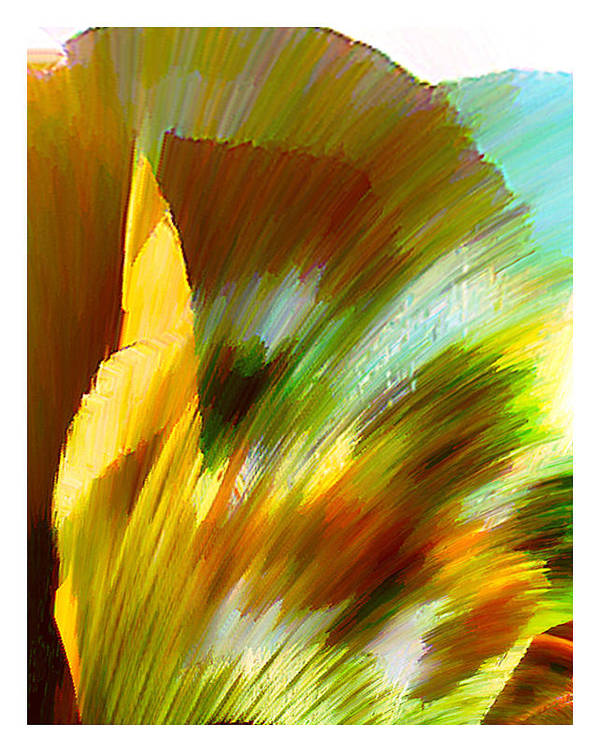 Landscape Digital Art Watercolor Water Color Mixed Media Art Print featuring the digital art Feather by Anil Nene