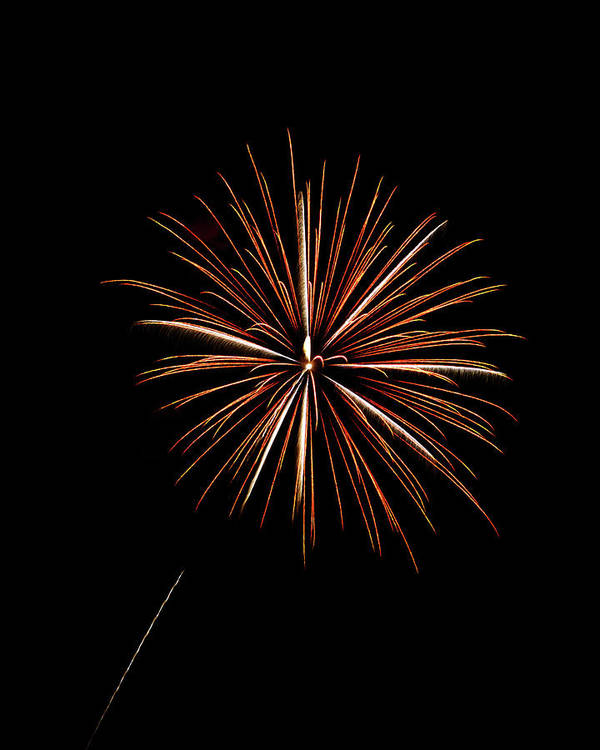 Frieworks Print featuring the photograph Fire Works by Gary Langley
