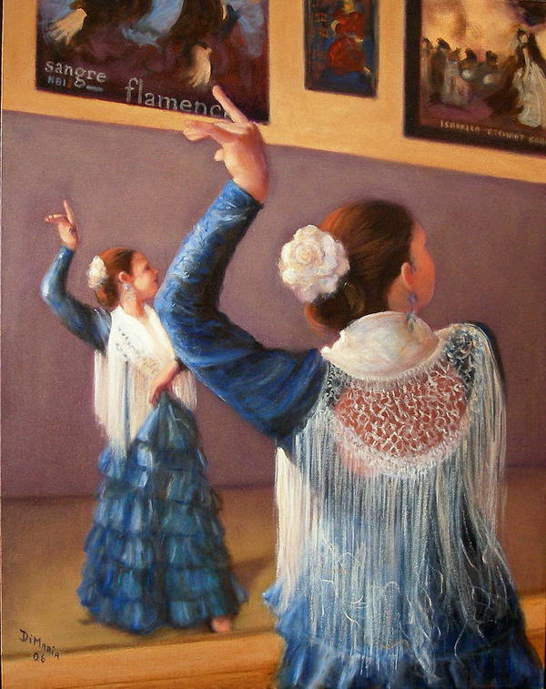 Realism Art Print featuring the painting Flamenco 7 by Donelli DiMaria