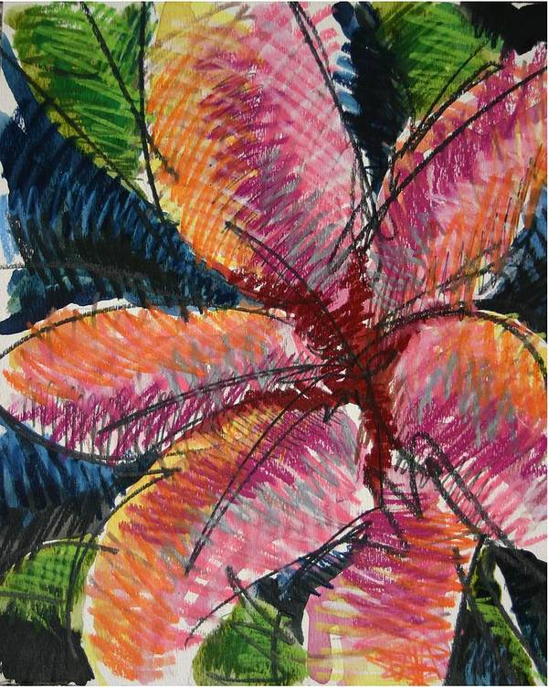 Lily Art Print featuring the painting Flora Exotica 3 by Dodd Holsapple