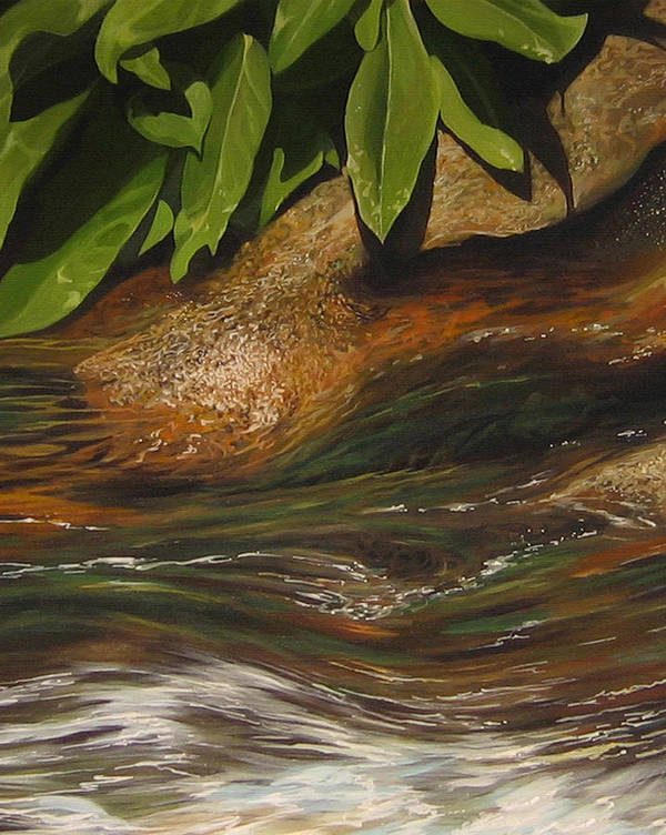 Colorado Mountain Stream Art Print featuring the painting Flow by Hunter Jay