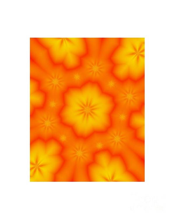 Digital Art Print featuring the digital art Flower Mandala 5 by Salena Angel