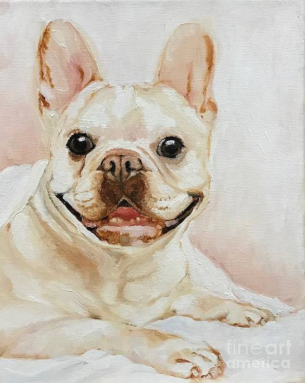 Pet Art Print featuring the painting French Bulldog by Boni Arendt