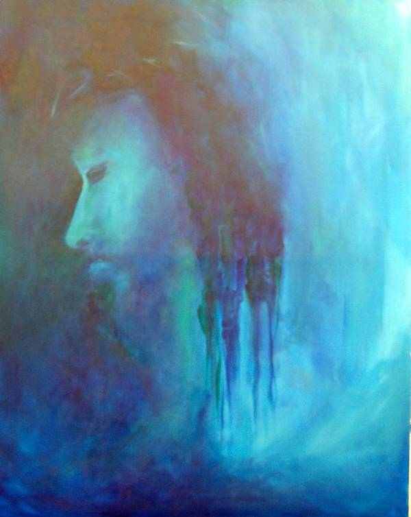 Abstract Art Print featuring the painting Gethsemane by DeLa Hayes Coward