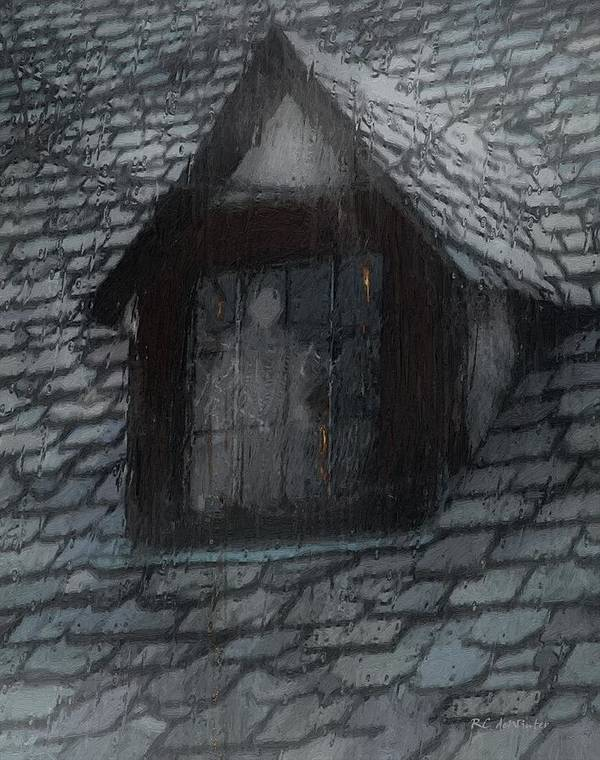Ghost Art Print featuring the painting Ghost Rain by RC deWinter
