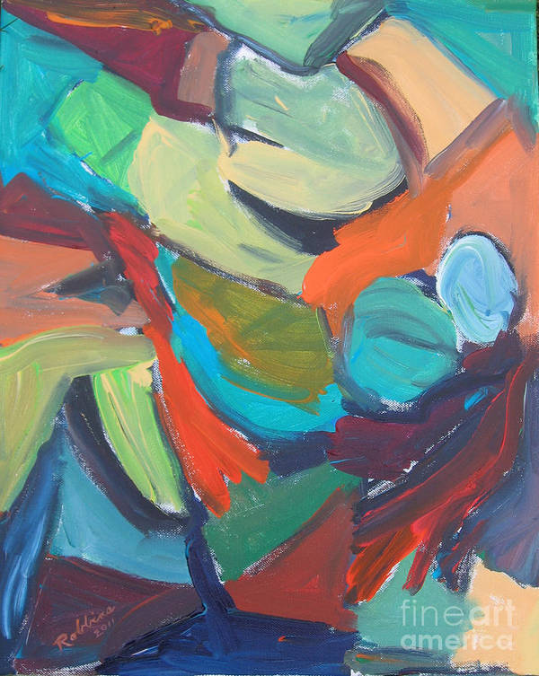 Abstract Art Print featuring the painting Glow by Marlene Robbins