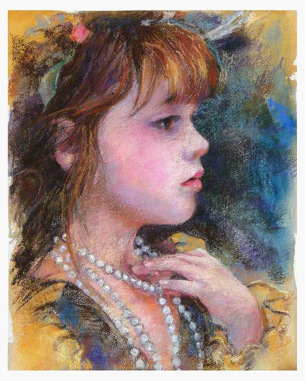 Pastel Art Print featuring the painting Golden Girl by Debra Jones