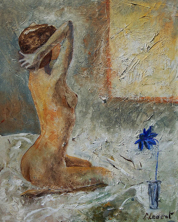 Nude Art Print featuring the painting Good Morning Sunshine by Pol Ledent