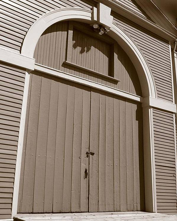 Waltham Art Print featuring the photograph Gore Barn Door by Heather Weikel