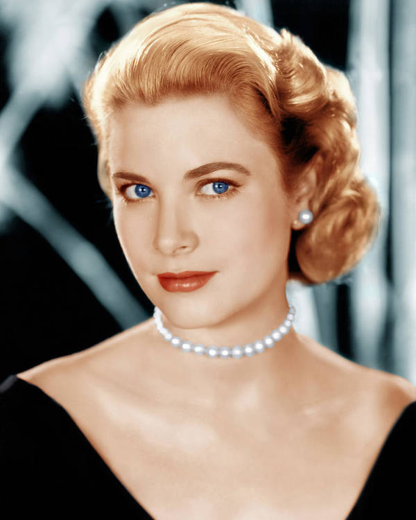1950s Portraits Print featuring the photograph Grace Kelly, Ca. 1953 by Everett