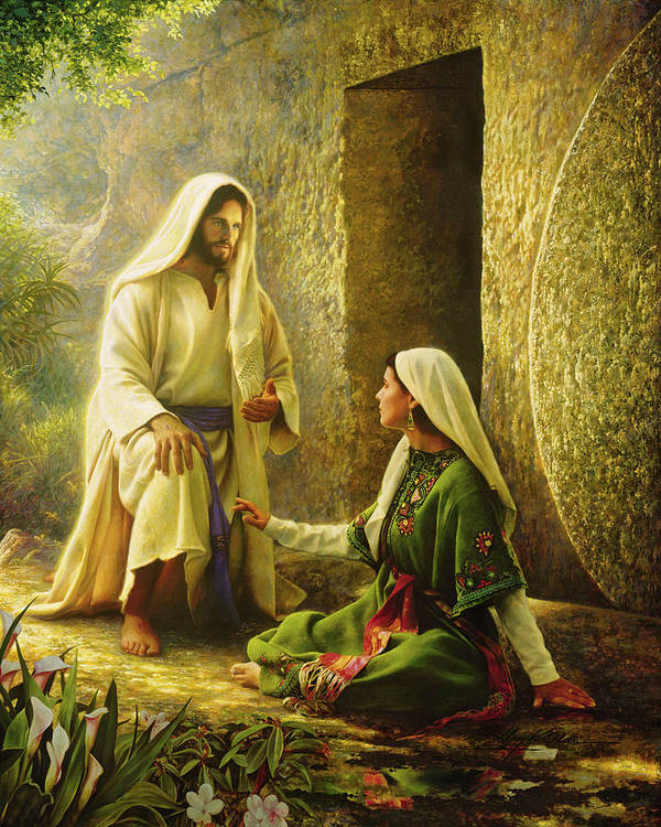 Jesus Print featuring the painting He Is Risen by Greg Olsen