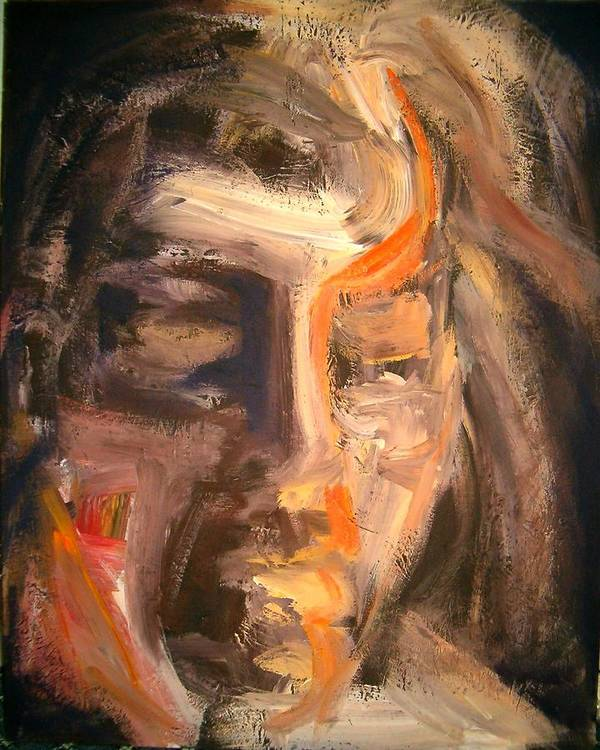 Portrait Art Print featuring the painting Head Of A Man by Umit Ozkanli