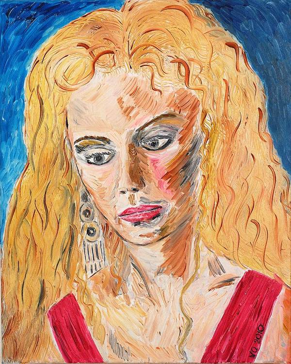 Helen Art Print featuring the painting Helen Of Troy by Valerie Ornstein