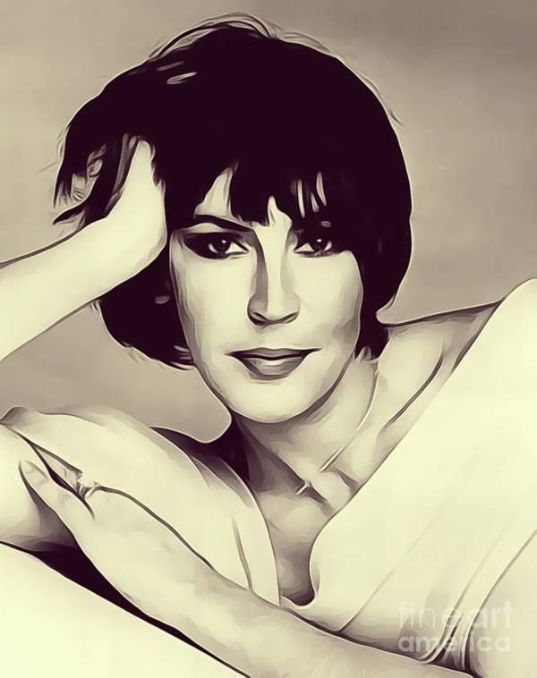 Helen Art Print featuring the digital art Helen Reddy, Singer by John Springfield