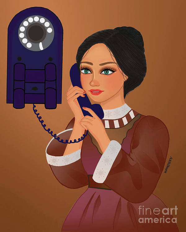 Classic Art Print featuring the digital art Hello by Athikan Art