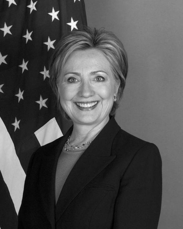 Hillary Clinton Art Print featuring the photograph Hillary Clinton by War Is Hell Store