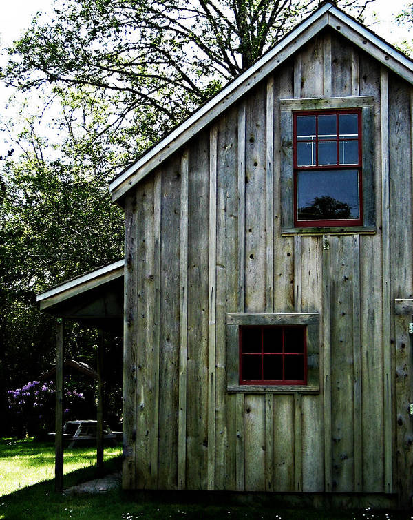 Shed Art Print featuring the photograph Historic Shed by Mg Blackstock