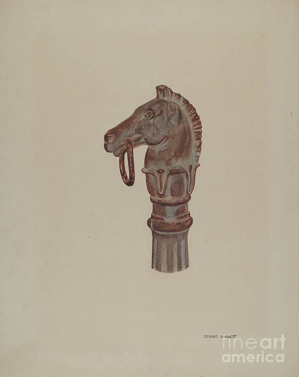 Art Print featuring the drawing Hitching Post by Gerard Barnett