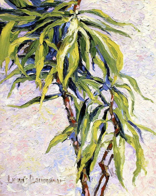 Yucca Art Print featuring the painting House Plant by Lewis Bowman