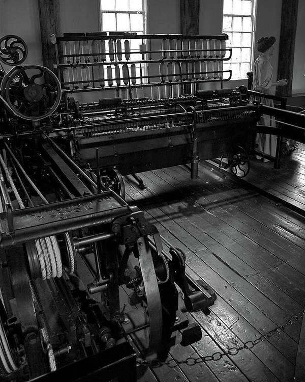 Slater Mill Art Print featuring the photograph Inside Slater Mill by Barry Doherty