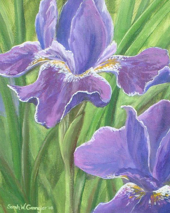 Iris Art Print featuring the painting Iris by Sarah Grangier