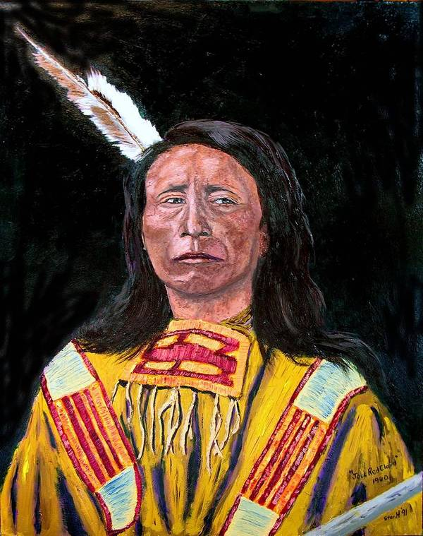 Indian Art Print featuring the painting Jack Red Cloud by Stan Hamilton