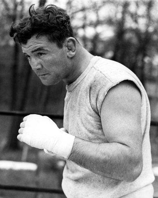 1930s Candids Art Print featuring the photograph James Braddock In Training For Upcoming by Everett