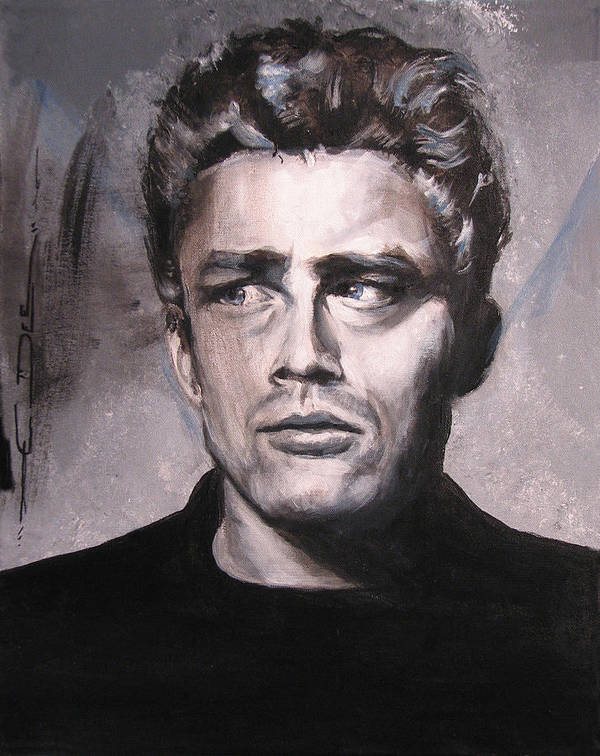 James Dean Art Print featuring the painting James Dean Two by Eric Dee