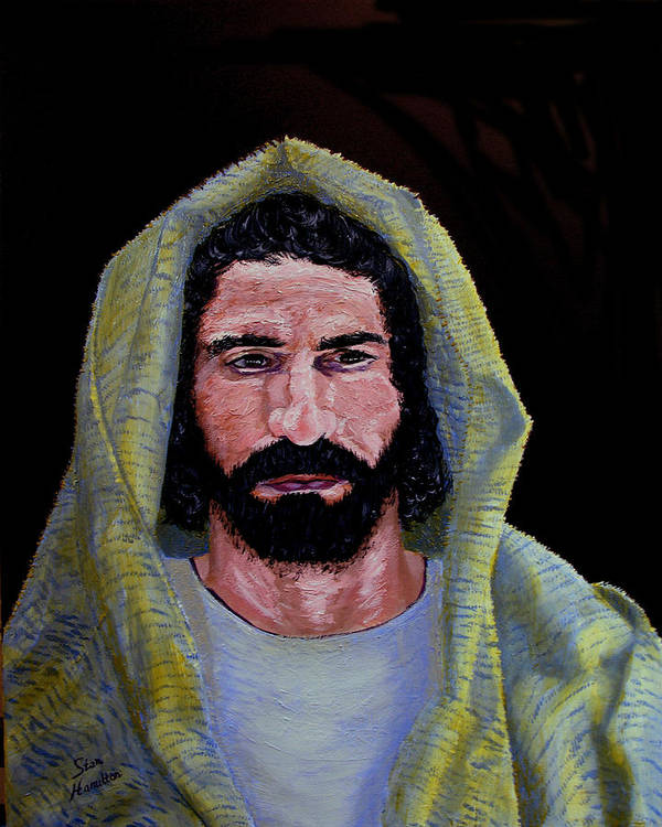 Jesus Christ Art Print featuring the painting Jesus In Contemplation by Stan Hamilton
