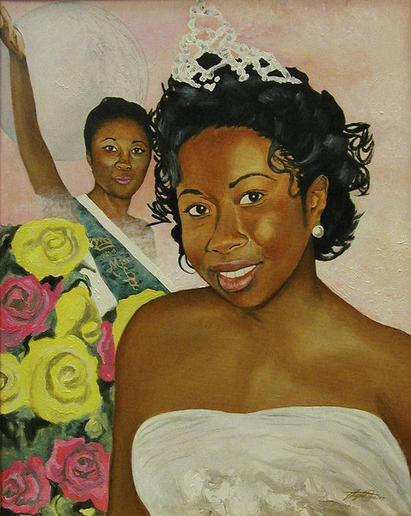 African American Queen Art Print featuring the painting Kirsten by Angelo Thomas