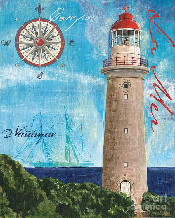 Coastal Art Print featuring the painting La Mer by Debbie DeWitt