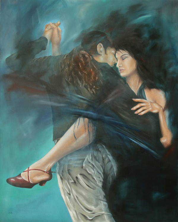 Tango Art Print featuring the painting La Mujer Argentina by Harri Spietz