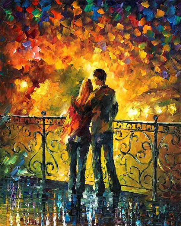 Afremov Art Print featuring the painting Last Date by Leonid Afremov