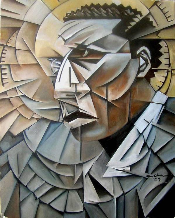 Jazz Saxophonist john Coltrane Cubism Art Print featuring the painting Late Trane by Martel Chapman