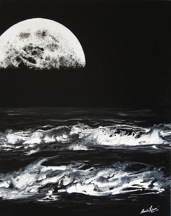 Contemporary Sea Art Print featuring the painting Le Majestueux by Annie Rioux