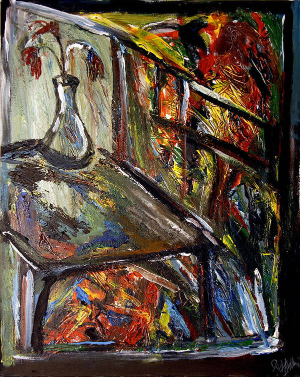 Expressionism Art Print featuring the painting Lithium Number One by Jon Baldwin Art