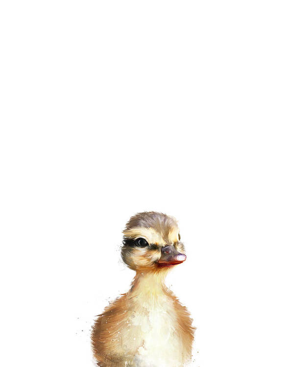 Duck Art Print featuring the painting Little Duck by Amy Hamilton