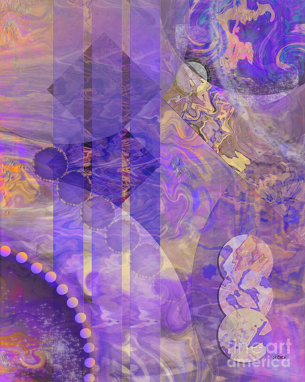 Lunar Impressions 2 Art Print featuring the digital art Lunar Impressions 2 by John Beck