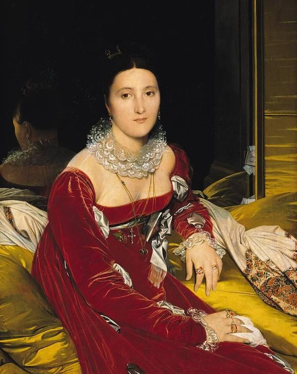 Madame De Senonnes Print featuring the painting Madame De Senonnes by Ingres