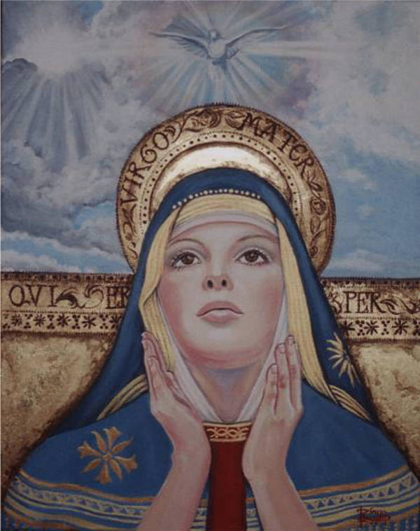 Portrait Art Print featuring the painting Madonna by Diann Baggett