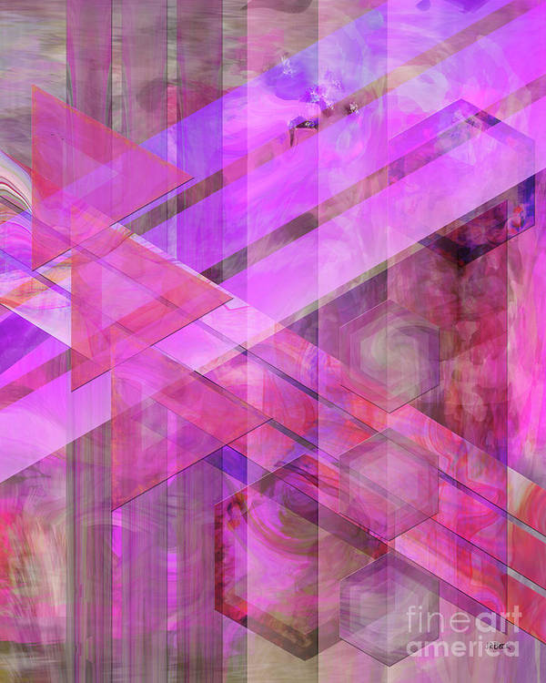 Magenta Haze Art Print featuring the digital art Magenta Haze by John Beck