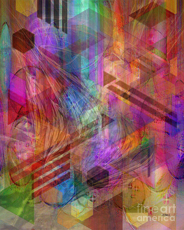 Magnetic Abstraction Art Print featuring the digital art Magnetic Abstraction by John Beck