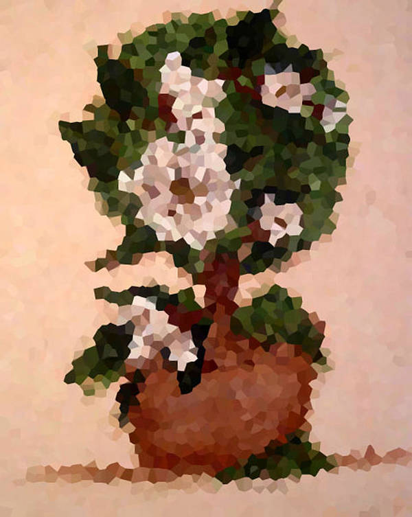 Digital Photo Art Print featuring the digital art Magnolia Topiary IIi by Barbara Griffin