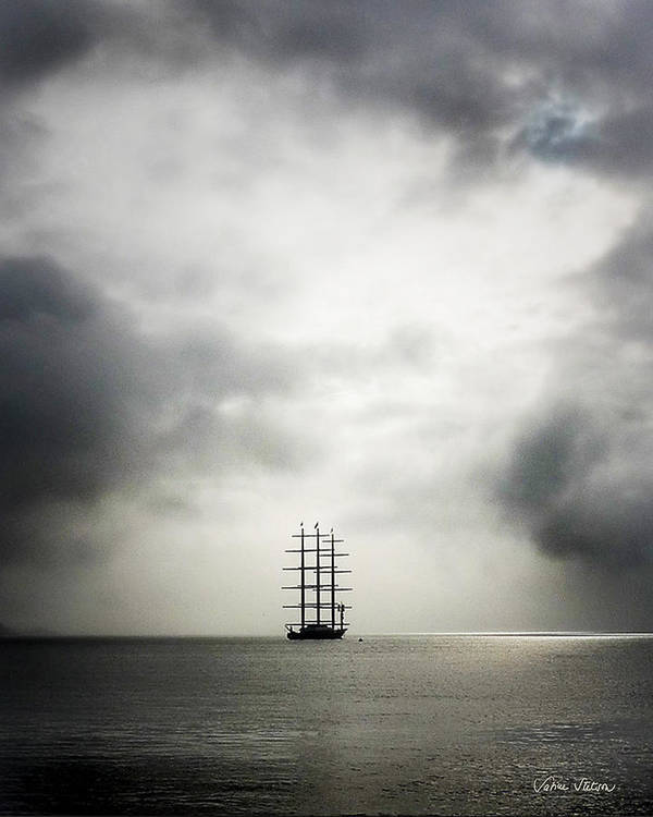 Yacht Art Print featuring the photograph Maltese Falcon by Sabine Stetson