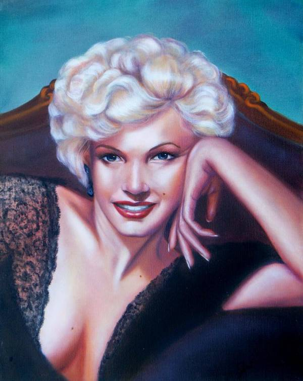 Oil Painting Art Print featuring the painting Marilyn Monroe by Joni McPherson