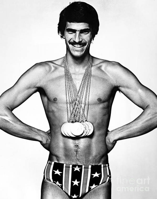 1972 Art Print featuring the photograph Mark Spitz (1950- ) by Granger