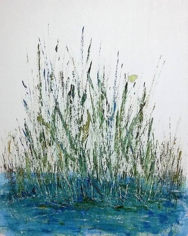 Marsh Art Print featuring the painting Marsh Life II by Linda Wimberly