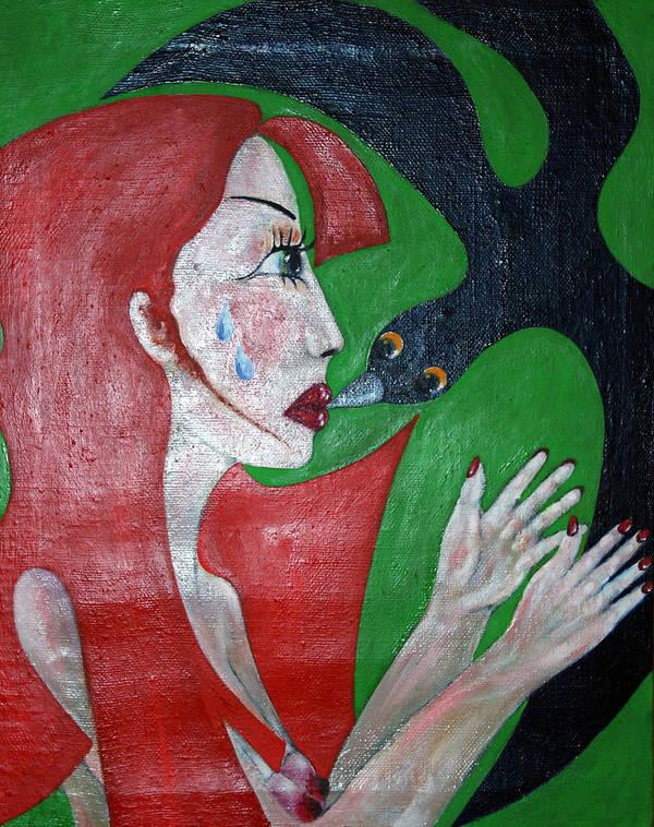 Colour Art Print featuring the painting Meeting I by Wojtek Kowalski