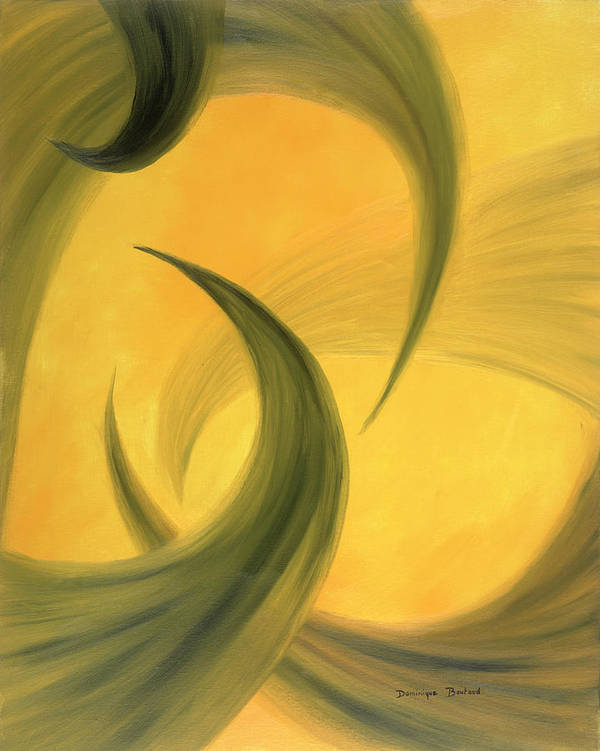 Abstract Art Print featuring the painting Meli-melo by Dominique Boutaud